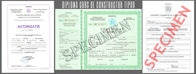 Diploma curs constructor tipare acreditata ANC 2019