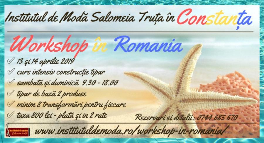 Primele workshop uri de croitorie din Romania in aprilie la Constanta