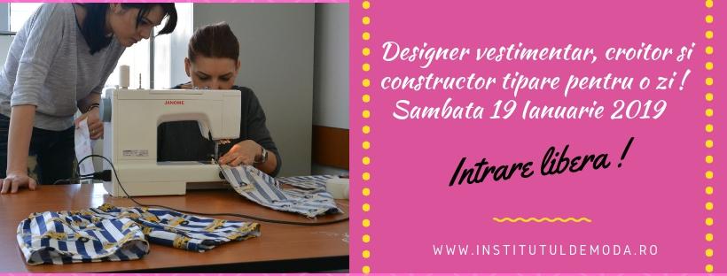 Participa la cursul demo de designer, croitor si tiparist
